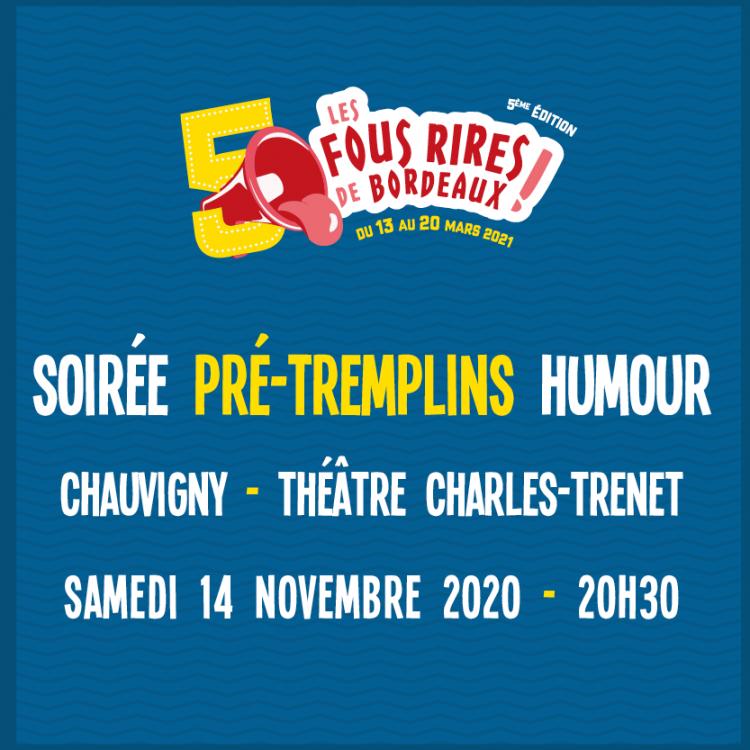 /!\ Événement en ligne : Soirée pré-tremplins Humour - Samedi 14 Novembre - Chauvigny